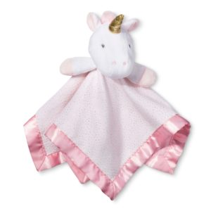 Pink Unicorn Stuffed Animal With Blanket as Body