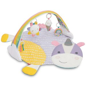 Unicorn Floor Blanket for Babies with Overhead Toys