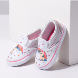 Unicorn Slip-On Sneaker for Toddlers - Unicorn and Rainbows
