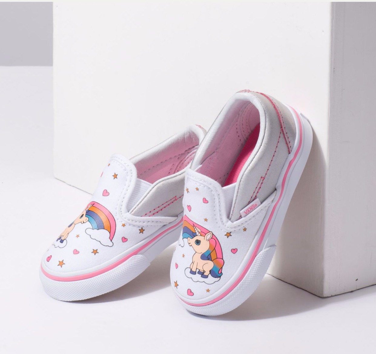 d09673540e60dc Unicorn Slip-On Sneaker for Toddlers - Unicorn and Rainbows